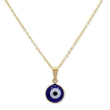 Evil Eye Chain and Charm Gold Plated