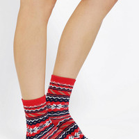 Frosted Fair Isle Boot Sock - Urban Outfitters