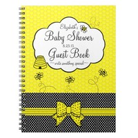 Bumble Bee-Baby Shower Guest Book-