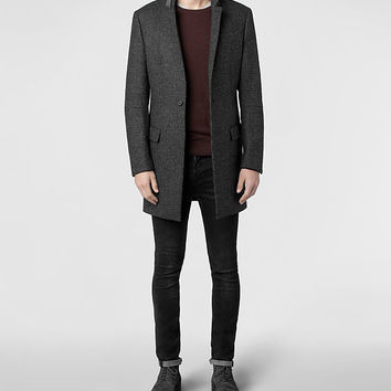 Mens District Coat (Charcoal) | ALLSAINTS.com