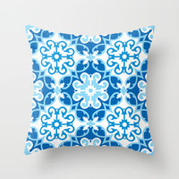 Floral pattern 2 Throw Pillow by Abdelati Dinar