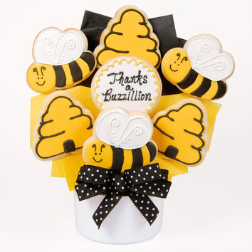 Thanks A Buzzillion Cutout Cookie Bouquet
