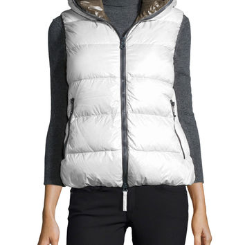 Febe Hooded Puffer Vest, Size:
