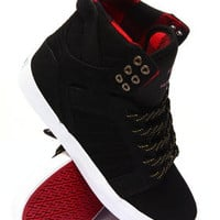 Skytop Black Canvas-Embossed Suede Sneakers
