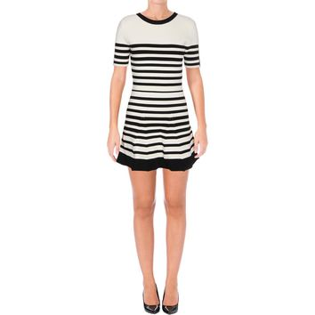 Timo Weiland Womens Textured Striped Wear to Work Dress