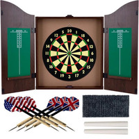TG? Dartboard Cabinet Set - Realistic Walnut Finish