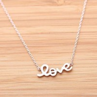 LOVE necklace in pinkgold by bythecoco on Zibbet