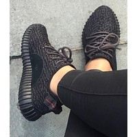 """""""Adidas"""" Women Yeezy Boost Sneakers Running Sports Shoes I black"""
