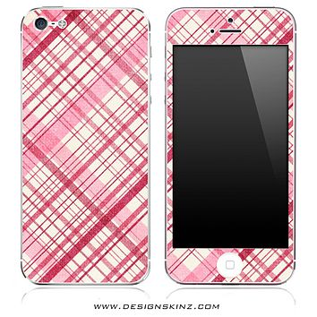 Pink Plaid iPhone Skin