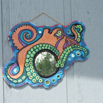 Octopus Wall Mirror with Bubble Mirrors