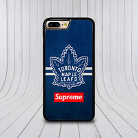 Supreme Toronto Maple Leafs Case For iPhone 6 6s 7 8 Plus X Samsung Note Cover