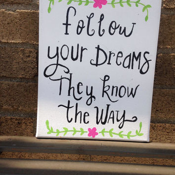 Hand painted Inspirational Sign
