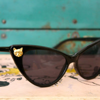 Pussy Whipped- Cat Embellished Cat Eye Sunglasses