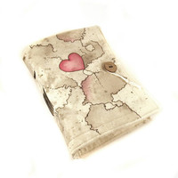 Love, Journal, Painted Canvas