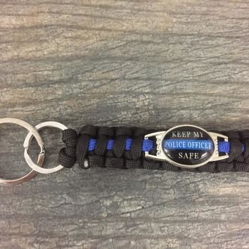 Keep My Police Officer Safe Keychain