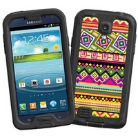 """Happy Bright Tribal """"Protective Decal Skin"""" for LifeProof fre/nuud Samsung Galaxy S4 Case"""