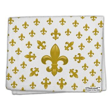 "Gold Fleur De Lis AOP 11""x18"" Dish Fingertip Towel All Over Print by TooLoud"