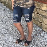 Destroyed Bermuda Shorts
