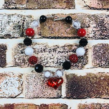 RTS Red Heart Chunky Necklace