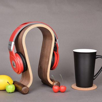 Birch Wood Headphone Holder