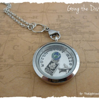 LDR FLoating Locket & Charm Set - Long Distance Love