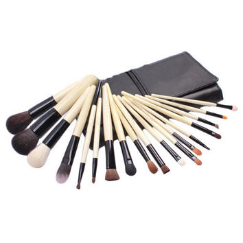 Fashion Luxury 18-pcs Wool Make-up Brush Set = 4831037700