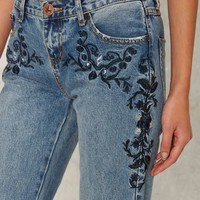 One Teaspoon Awesome Baggies Jeans - Blue Lola