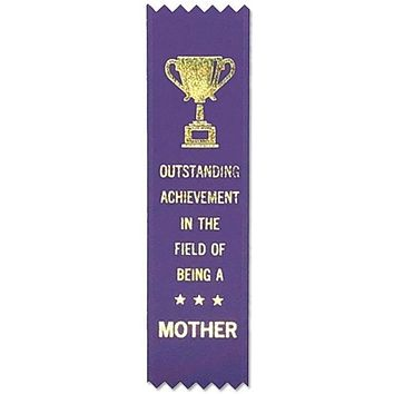 Outstanding Achievement In The Field Of Being A Mother Adulting Award Ribbon on Gift Card