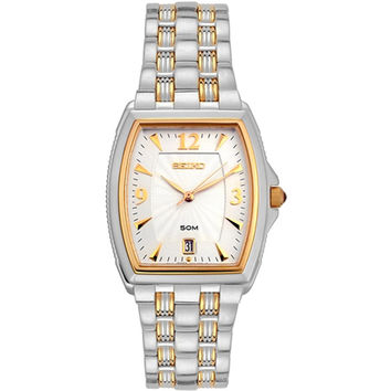 Seiko SKK536 Men's Le Grand Sport Two Tone Gold Plated Stainless Steel Watch