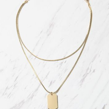 LA Hearts ID Tag Layered Necklace at PacSun.com