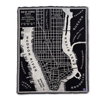 City Map Throw | merino wool blanket