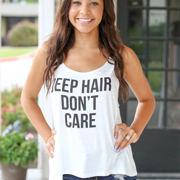 Jeep Hair Don't Care Tank - Ivory