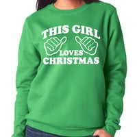 Green This Girl Loves Christmas Soft & Stretchy Sweater