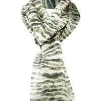 Anne Klein Women's Animal Printed Chiffon Scarf