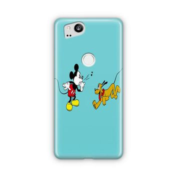 Mickey Mouse And Minnie Mouse In The Park Google Pixel 3 XL Case | Casefantasy