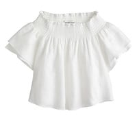 J.Crew Womens Apiece Apart Milos Smocked Top