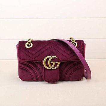 Gucci Women Fashion Leather Satchel Bag Shoulder Bag Crossbody