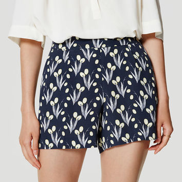 Valley Floral Pleated Shorts | LOFT