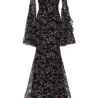 Alex Painted French Lace Gown | Moda Operandi