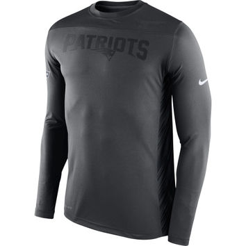 New England Patriots Nike Speed Long Sleeve Performance T-Shirt – Charcoal