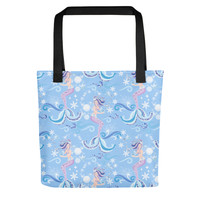 Mermaid Dream All Over Tote Bag