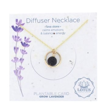 Diffuser Lavender Seed Card Necklace