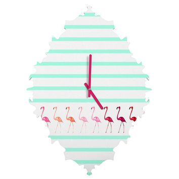 Monika Strigel Mini Flamingo Walk Baroque Clock