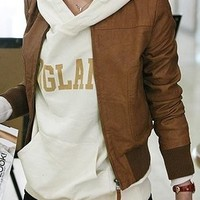 Brown Leather Jacket from Blush! A Boutique