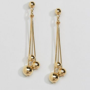 Whistles Triple Sphere Drop Earring at asos.com