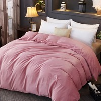Pink Solid Duvet Cover 1PC