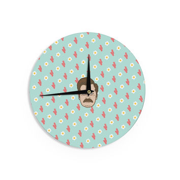 "Juan Paolo ""Give Me All Of The Bacon And Eggs"" Parks & Recreation Wall Clock"