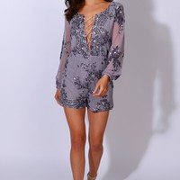 Glam Affair Sequin Romper Lavender