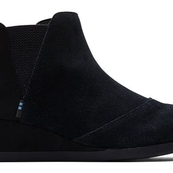TOMS - Youth Kelsey Black Suede Boots