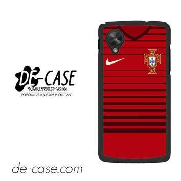 Portugal Soccer Jersey For Google Nexus 5 Case Phone Case Gift Present YO